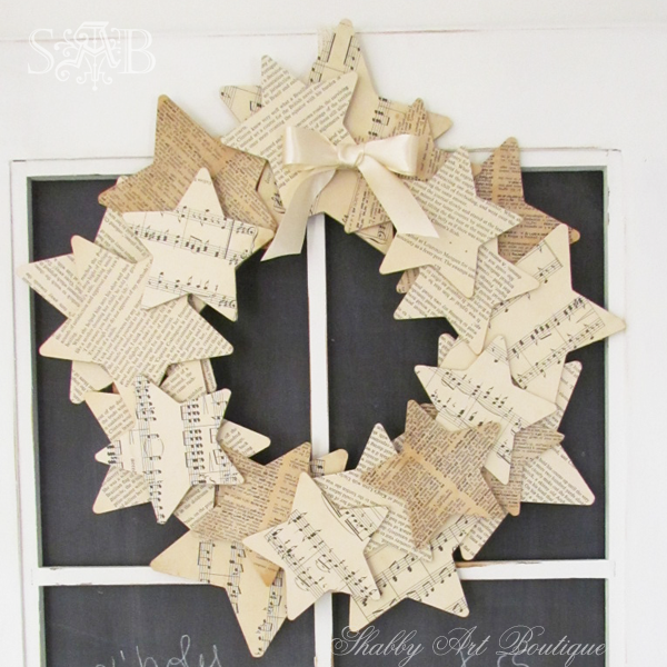 Shabby Art Boutique starry wreath 1