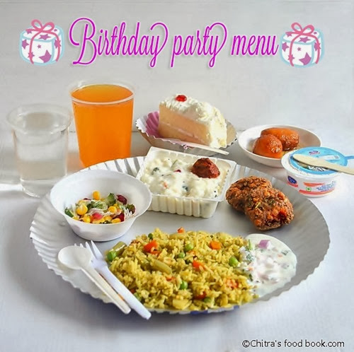 SIMPLE BIRTHDAY PARTY RECIPES MENU FOR KIDS Chitras Food Book