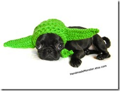 yoda crocheted animal hat