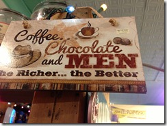Coffee, chocolate and men