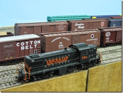 IMG_5593 Tidewater Southern RS1 #746 on the LK&R HO-Scale Layout at the WGH Show in Portland, OR on February 18, 2007