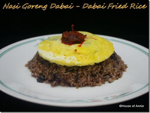 Nasi Goreng Dabai - Dabai Fried Rice