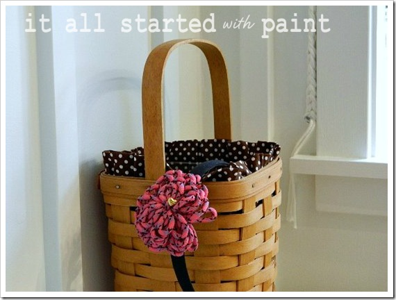 Powder Room Makeover After Basket Closeup