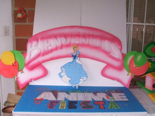 Letrero De Bienvenidos A Mi Fiesta Princesa  Animefiesta