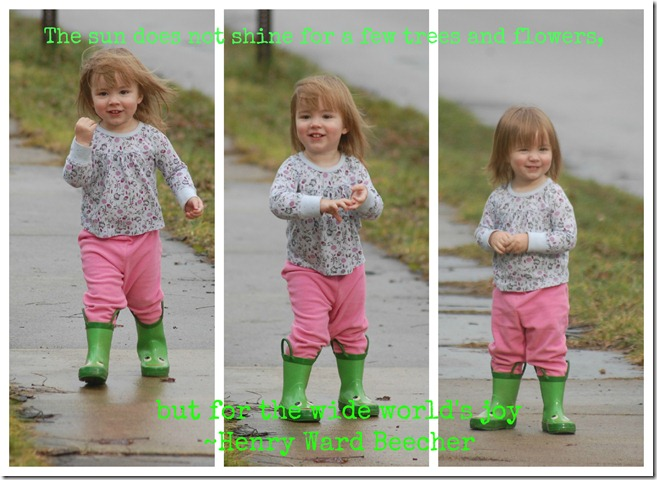 green boots happy