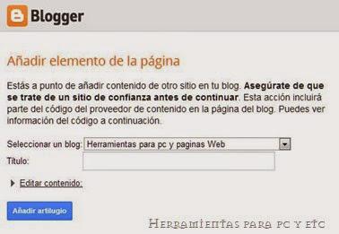 Como crear un widget para que agreguen un enlace a tu blog