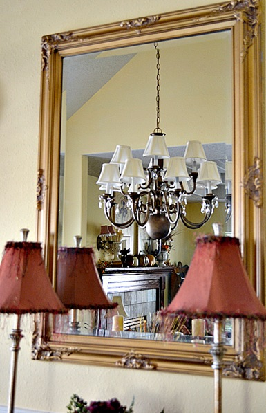 Brass chandeliers makeover at the picket fence so for the cost of an electrician plus a few more like 8 cans of spray paint some elbow grease new shades and crystal prisms i have 2 new light aloadofball Images
