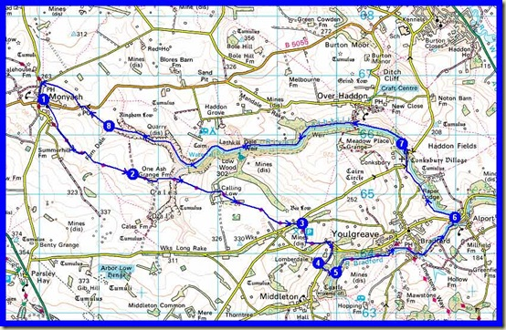 Our route - 20km with about 300 metres ascent