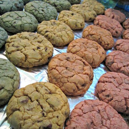 Pastel Rainbow Chocolate Chip Cookies 5