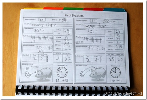 Calendar Notebook- Daily Math Practice Page