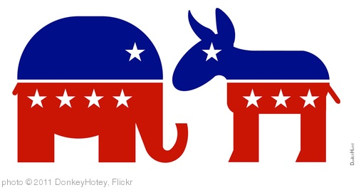 'Republican Elephant & Democratic Donkey - Icons' photo (c) 2011, DonkeyHotey - license: http://creativecommons.org/licenses/by/2.0/