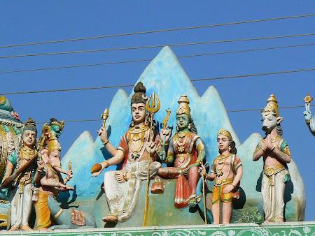 Tamil Nadu: coloured Gods of Trichy
