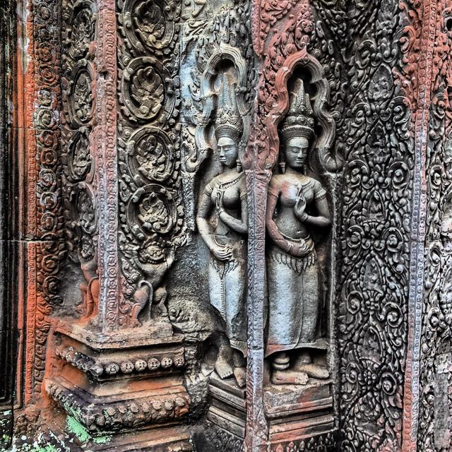 12. Angkor Tom. Ангкор Том. Многие барельефы великолепно сохранились.