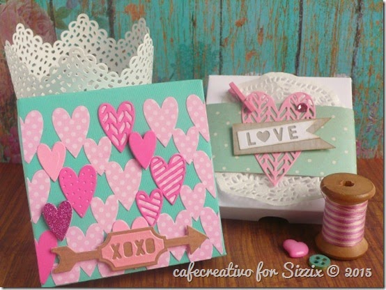 cafe creativo - sizzix big shot - valentine - love - wedding box -  tutorial (1)