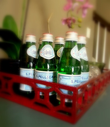 tray and pellegrino