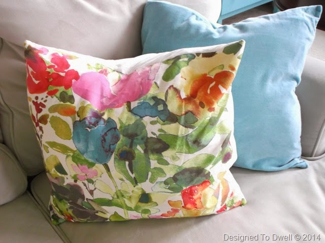 Floral & Turquoise Pillows