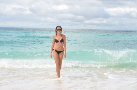 Alexandra Kovacova on Boracay beach