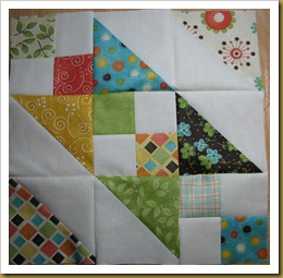 Charm Square Quiltalong first finished block - Copy