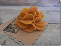 mustard flower pin