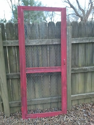Repurposed Vintage Screen Door My Repurposed Life