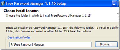 Installare Free Password Manager su chiavetta USB