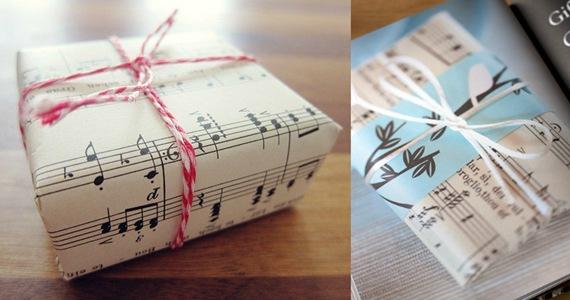 Caixas para presente: Partituras e Notas musicais