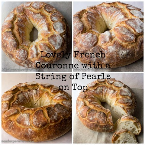 French Couronne with String of Pearls