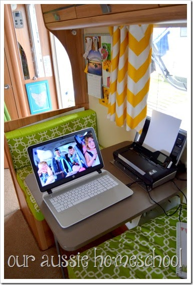 Our Aussie Homeschool ~ Our Roadschool Learning Spaces