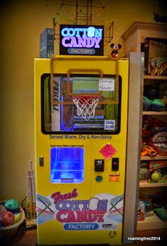Cotton Candy in a vending machine
