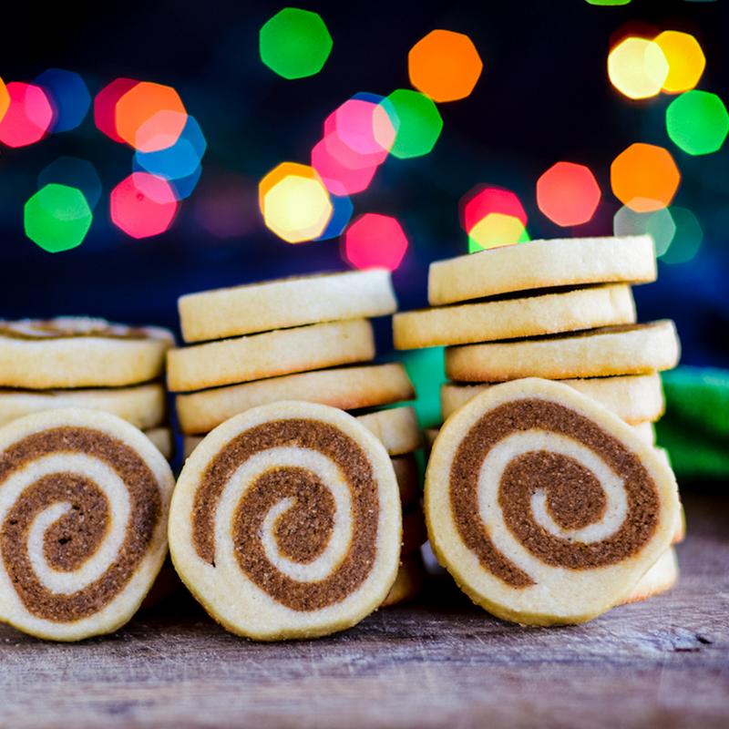 Ginger swirl cookies