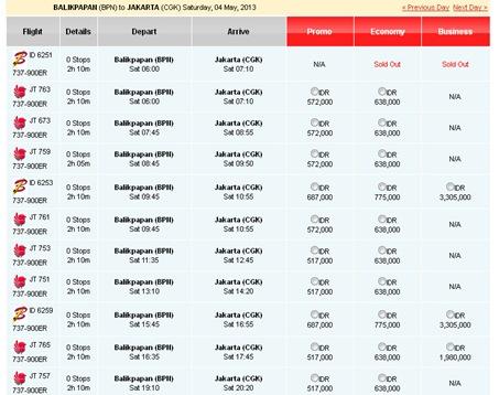 Harga Tiket Batik Air