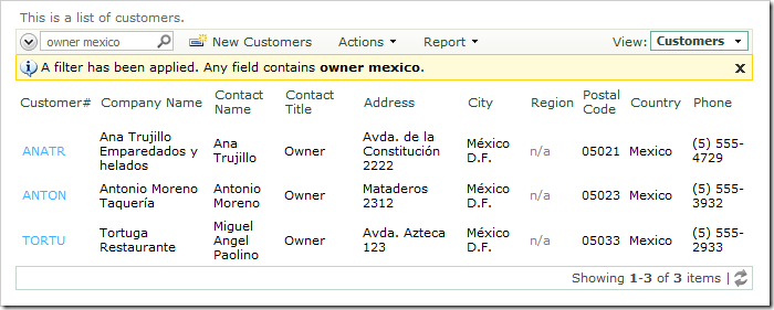 The screenshot shows the search result for 'owner mexico'.