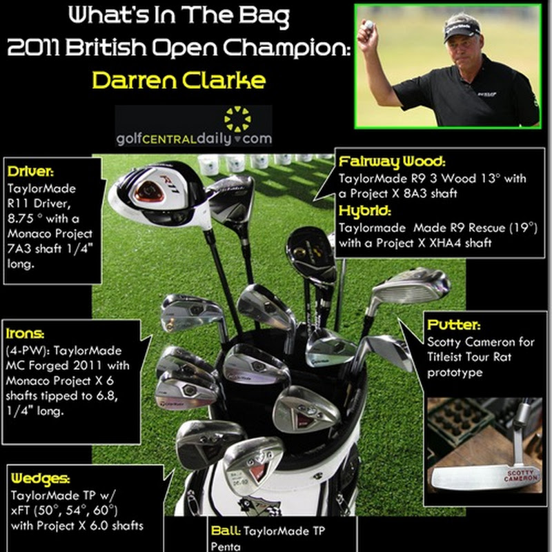 What's In The Bag Darren Clarke 2011 British Open Champion