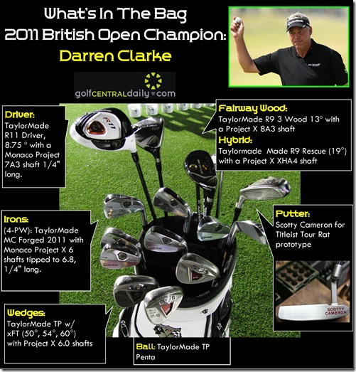 whats in the bag Darren Clarke 2011