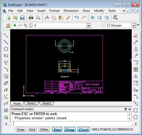 DraftSight-User-Interface