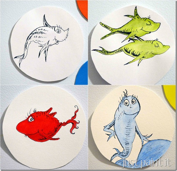 1 Fish 2 Fish Red Fish Blue Fish Printables Pictures to Pin on