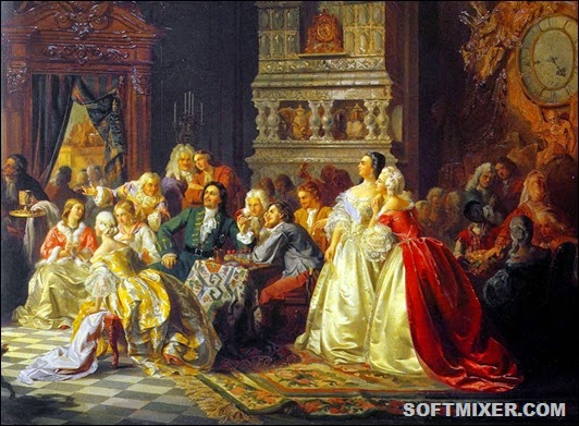 Assambleya-pri-Petre-I.-Hud.-Hlebnikov(2)
