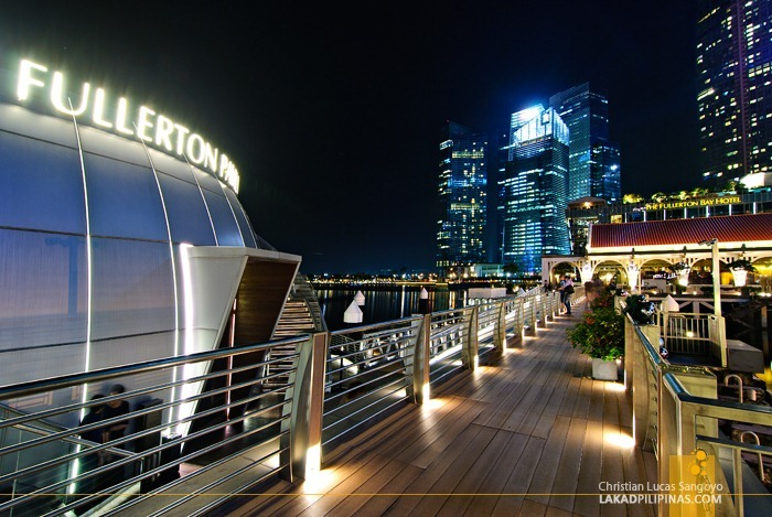 Bridge Towards Fullerton at Singapore's Marina Bay