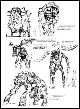Unused Colossi sketches - page 5 of 6