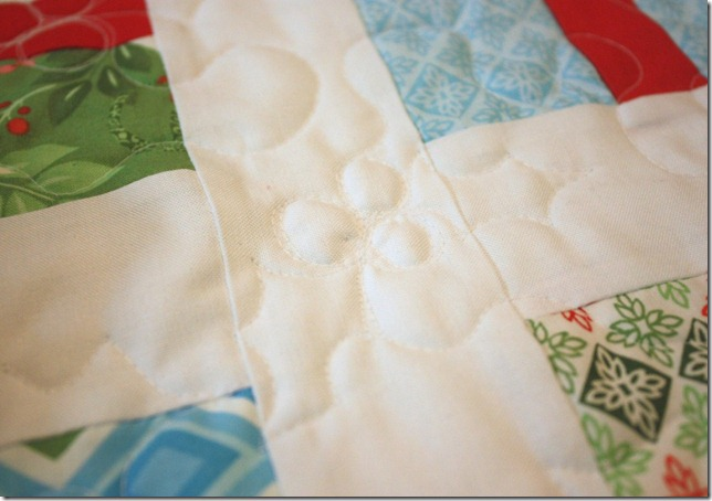 Simple Gifts Christmas Runner Quilting Detail