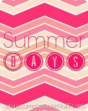 Summer Days FREE printable - Sumo's Sweet Stuff #printable