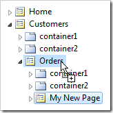 My New Page being copied onto Orders page node.