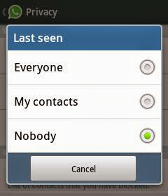 how to not show last seen on whatsapp