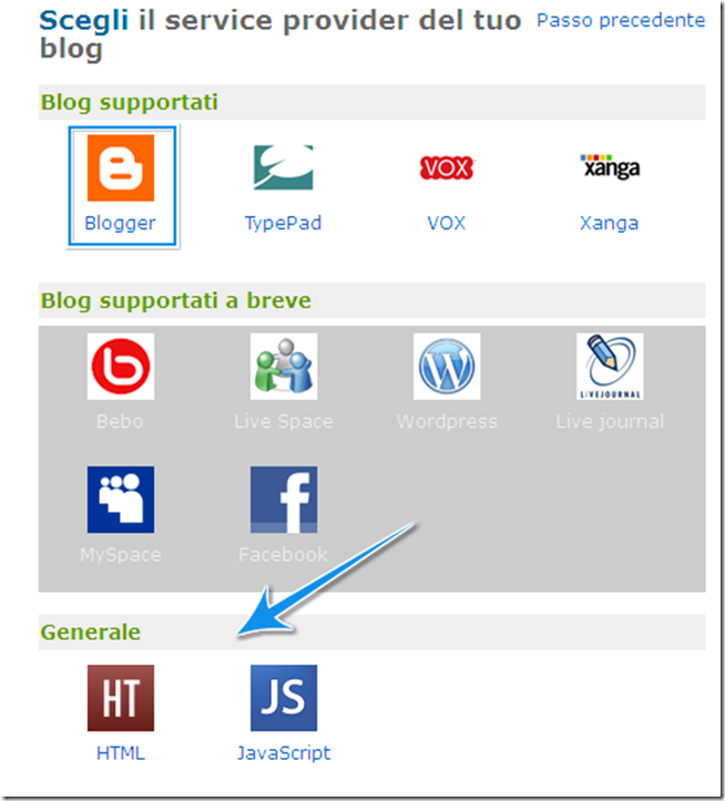 codice del badge anobii blog blogger html javascript