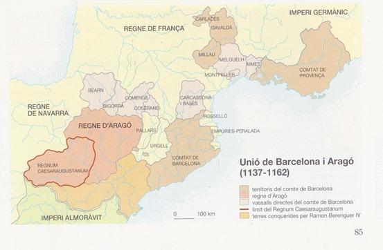 Mapa del Comtat de Tolosa e las tèrras occitanas