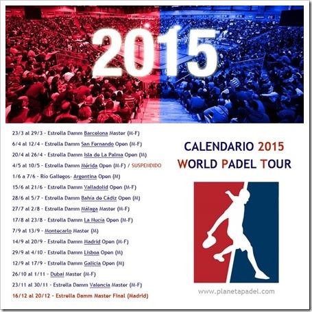 CALENDARIO WPT 2015 PLANETA PADEL