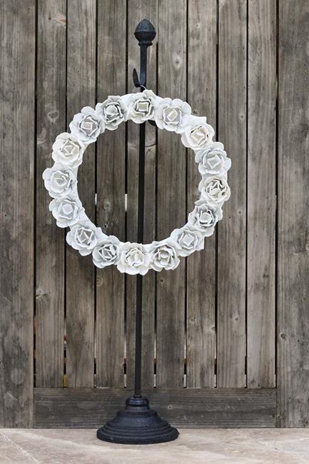 egg carton rose wreath - 1