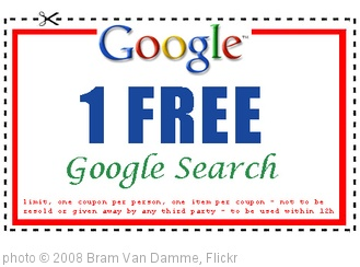 'Google Search Coupon: 1 FREE Google Search' photo (c) 2008, Bram Van Damme - license: http://creativecommons.org/licenses/by/2.0/