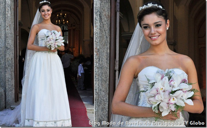 moda da novela fina estampa - vestido de noiva da amalia