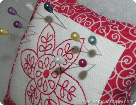 Redwork Pincushion ASWC